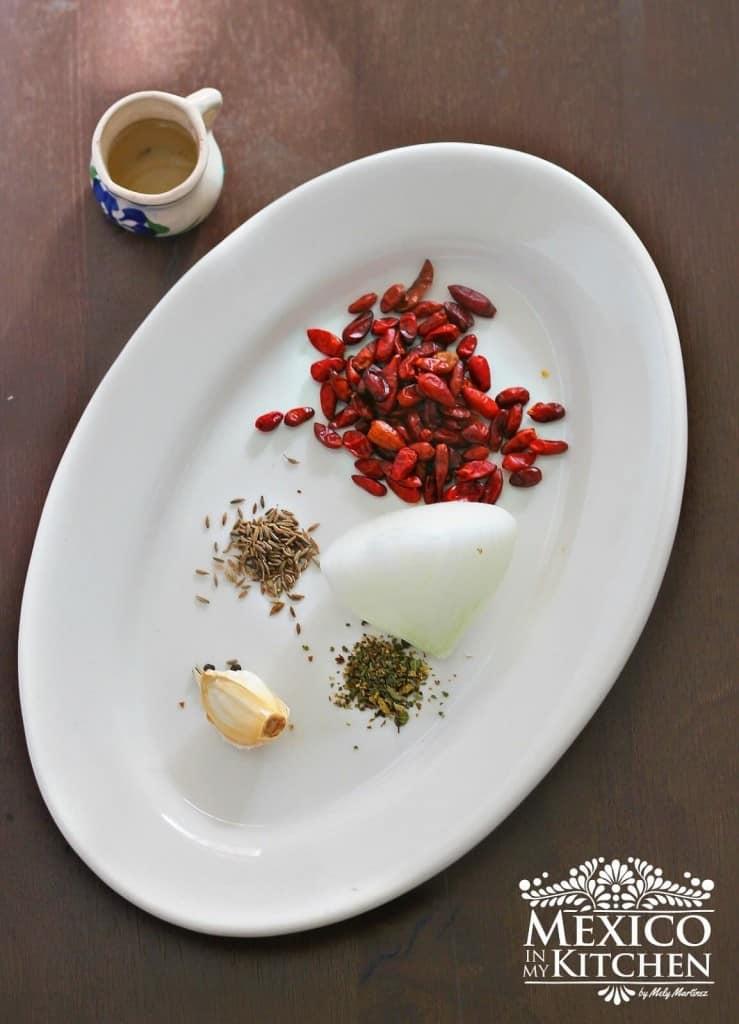 Salsa de chile piquin, ingredientes necesarios
