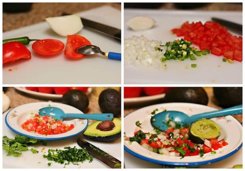 Guacamole Casero Ingredientes
