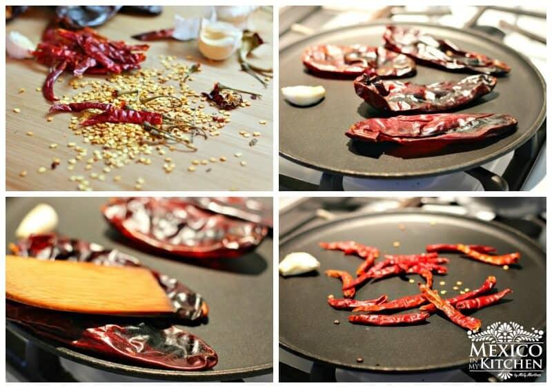 Salsa roja para tacos, instrucciones paso a paso