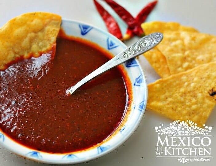 Salsa roja para tacos, disfruta, buen provecho