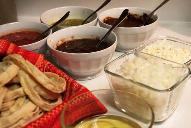 Picadas al Estilo Veracruz, salsas