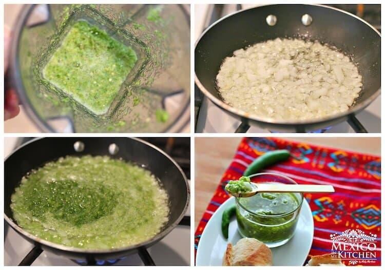 Salsa de Chile Serrano Frita, instrucciones