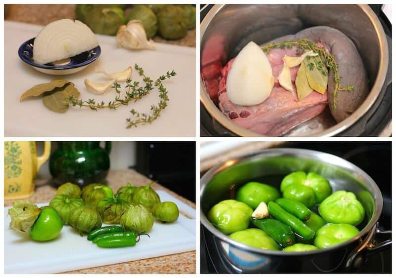 Lengua en Salsa Verde, instrucciones paso a paso