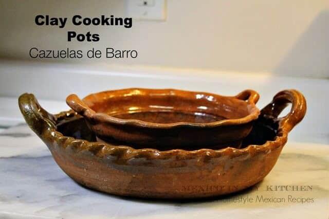 Utensilios de cocina mexicanos, cazuelas de barro