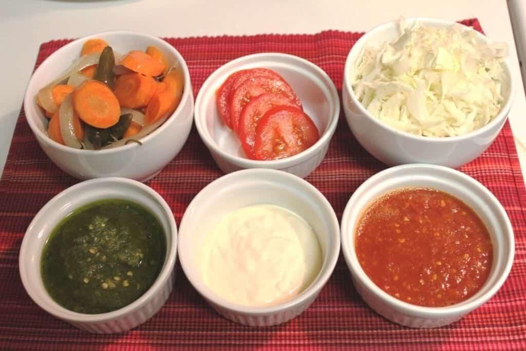 Cachetadas tacos de Tampico, ingredientes