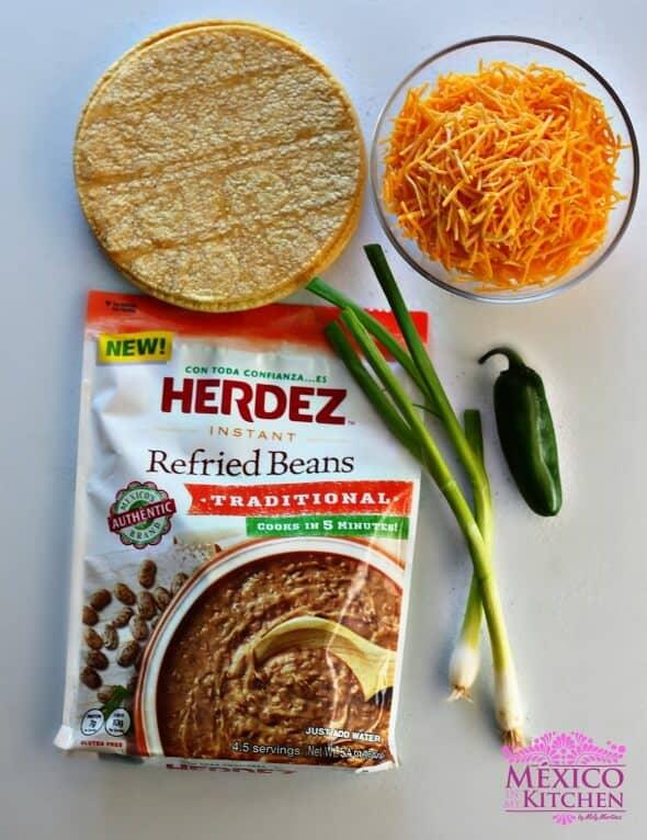 nachos tradicionales, ingredientes