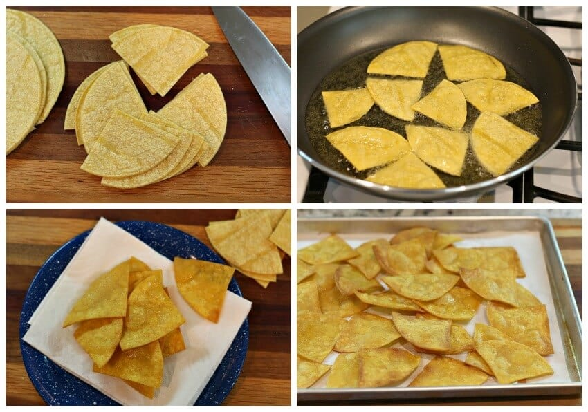 nachos tradicionales, instrucciones paso a paso, tutorial gratis